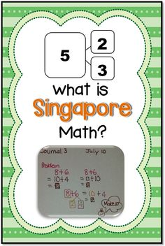 Math Coach's Corner: What is Singapore Math?  Think Singapore math is just bar model drawing?  Think again!