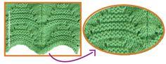 Tutorial: punto triángulo con ondas tejido en dos agujas o palitos!
