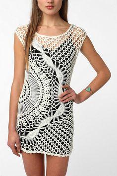 Hairpin lace tunic