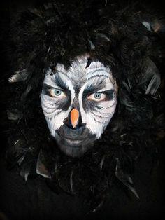 owl face paint    boho memento - project 365