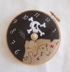 Laura Mason's fantastic embroidered clocks