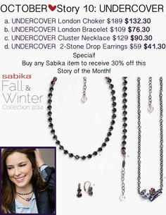 "30% off Story 10 and Story 17 after your first SMALLEST full price purchase.  Buy a Sabika ""PINK"" Bracelet or Heart Necklace to Support the Cause and become eligible for 50% off ALL earrings!  Earrings make GREAT Holiday Gifts!  Stephanie Fisher 412-915-5982 or stephaniesabika@gmail.com"