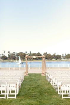 A ceremony with a view.    Photography by weheartphotography.com