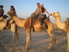 Riding camels in Israel!