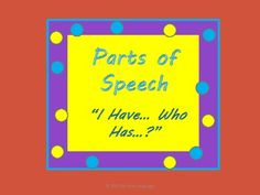 Parts of Speech Games!