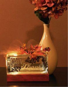 Fall Mini Glass block