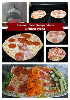 Summer Food Recipes Ideas- grilled pizza #client