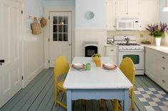 custom kitchens, sweet, yellow chairslov, cocina, kitchen dining