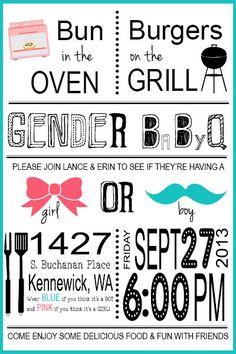 Gender Reveal Invite - By Bee Designs