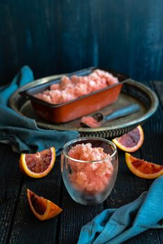 Mimosa Sorbet made with Blood Oranges