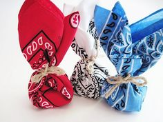 Bandana wrapped favors