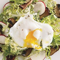 Frisée and Wild Mushroom Salad with Poached Egg
