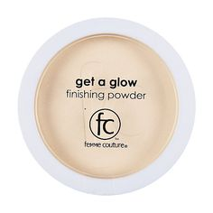 Femme Couture Get a Glow Finishing Powder leaves skin glowing @Sally McWilliam Beauty Supply
