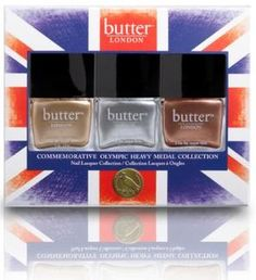 butter london olympic medal nail polish collection. beautiful--WANT!!!