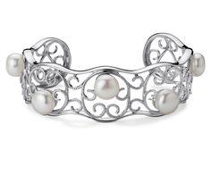Freshwater Cultured Pearl Cuff Bracelet in Sterling Silver #BlueNile  #MyBlueNileFaves