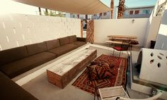Loving this patio at the Ace Hotel in Palm Springs