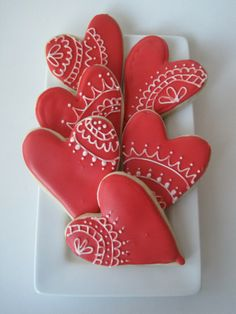 Red Royal Icing Hearts