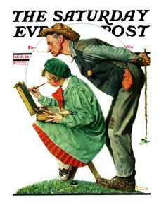 """Hayseed Critic"" Saturday Evening Post Cover, July 21,1928"