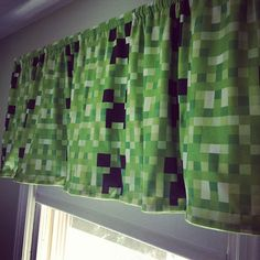 minecraft valence | Minecraft Creeper curtain valance - handmade by me for Ben :) | Flickr ...
