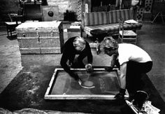 (Gerard Malanga silkscreening w-Warhol) Silver Factory Andy founded in 1964 in abandoned hat factory E 47th St NYC. The Silver Factory lasted until 1968 when Andy gave up the lease and moved to the White Factory on Union Square.