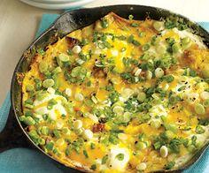 Potato, Bacon, and Sour Cream Frittata. So fast, so easy. Total cost: $3.41