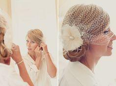 A pretty retro alternative to a veil. | veil ideas |