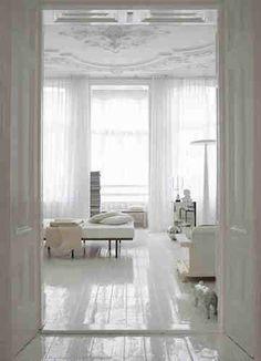 All white interior