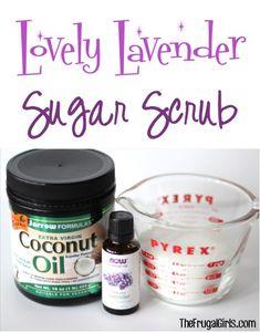 DIY Lavender Sugar Scrub Tutorial from TheFrugalGirls.com