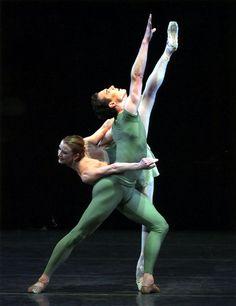 NYCB's Darci Kistler and Stephen Hanna in 'Octet'. Photo by Kolnik.