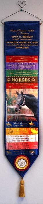 Horse Show Ribbon Quilts great show stall decor Name of horse & rider, pic of horse and then ribbons of placing....