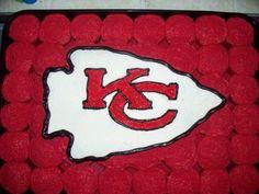 Kansas City Chiefs Cake Cupcakes Made With The Customary Red Black  cakepins.com