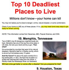 The Top 10 Deadliest Places To Live In The U.S. - http://www.survivalistdaily.com/top-10-deadliest-cities-in-the-united-states/