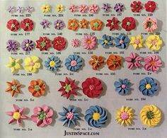 Different types of flowers you can pipe with different tips.