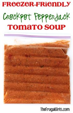 Crockpot Pepper Jack Tomato Soup Recipe! ~ from TheFrugalGirls.com ~ your tastebuds will go crazy for this... it's so easy to make and the most delicious freezer friendly Slow Cooker Soup ever! #slowcooker #soups #recipes #thefrugalgirls