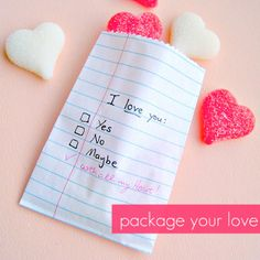 DIY:: ADORABLE..Package Your Love