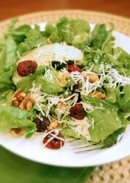 Escarole Salad with Apples Recipe | This escarole salad is a great way to get more leafy greens into your diet. Try this healthy salad for lunch or pair it with a lean protein for dinner.