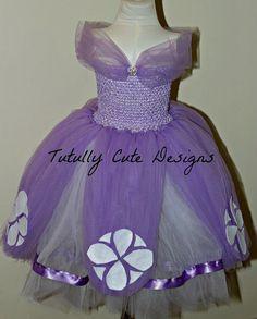 Sofia the First Dress.....Princess Tutu Dress....Princess Sofia the First Costume......Purple Tutu Dress....Floor length tutu dress