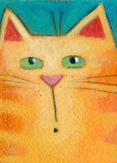 Whimsical Cat Watercolor
