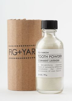 Give a healthy smile with Tooth Powder from Fig + Yarrow. Minerals such as clay, sea salt and baking soda are natural brighteners and lighteners. They provide anti-bacterial and deodorizing qualities, an abundance of alkalizing minerals and act as mild abrasives to leave teeth squeaky clean.  #menstoiletries