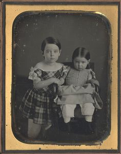 Brother and Sister - 1/2 Plate Daguerreotype by Langenheim by Photo_History, via Flickr