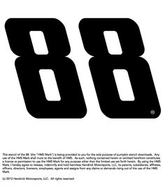 Fan of Dale Earnhardt Jr.? Download and use this stencil to help decorate your Hendrick Motorsports-themed pumpkin.