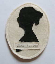 Jane Austen Cameo Fabric Brooch by Sophie Isobel Designs