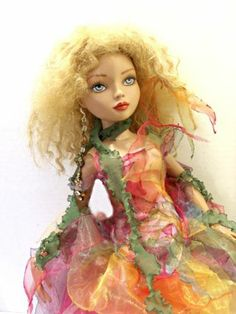 -ELLOWYNE MSD MINIFEE OOAK SPRING NYMPH FANTASY FAIRY FASHION OUTFIT DRESS by tweedtweed
