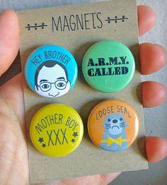 Buster Bluth Arrested Development Magnet Set