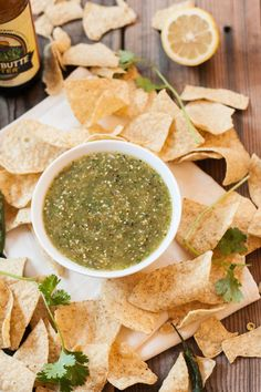 Roasted Tomatillo and Serrano Salsa | mycaliforniaroots.com | #easy #mexican food #recipe