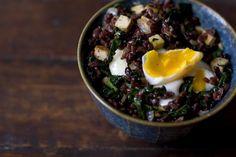 101 cookbook, eggs, poach egg, vegetarian breakfast, rice recip