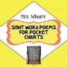 Sight Word Poetry for Pocket Charts-freebie