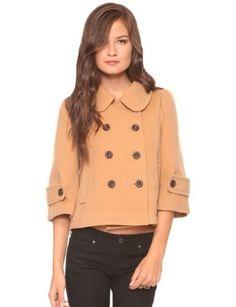 pea coat with puritan collar