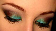 awesom makeupz, style, green, bride makeup, brown teal, beauti inspir, awesom eye, eye makeuptrick, eyes