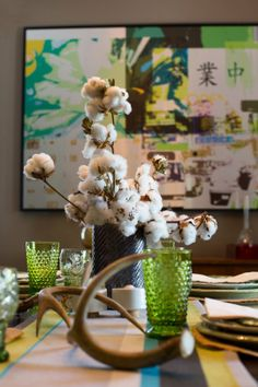 Cotton centerpieces